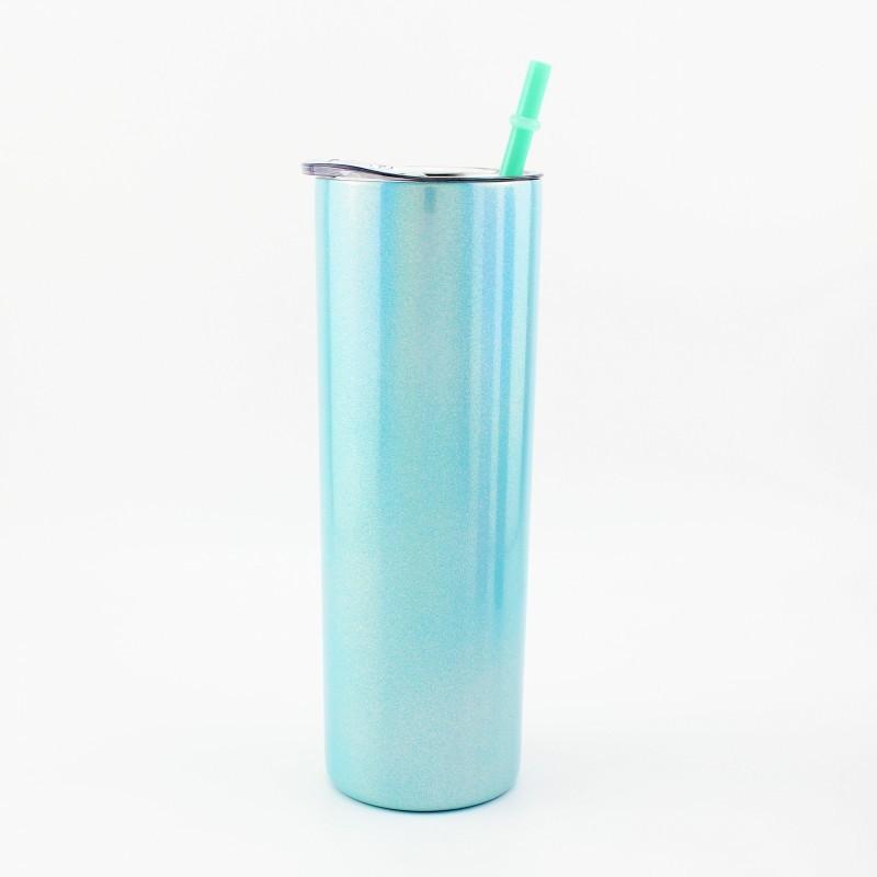 600ml 레인보우 페인트 머그잔 스트레이트 승화 컵 스테인레스 스틸 진공 텀블러 음료 빨 대 커버 23TL G2