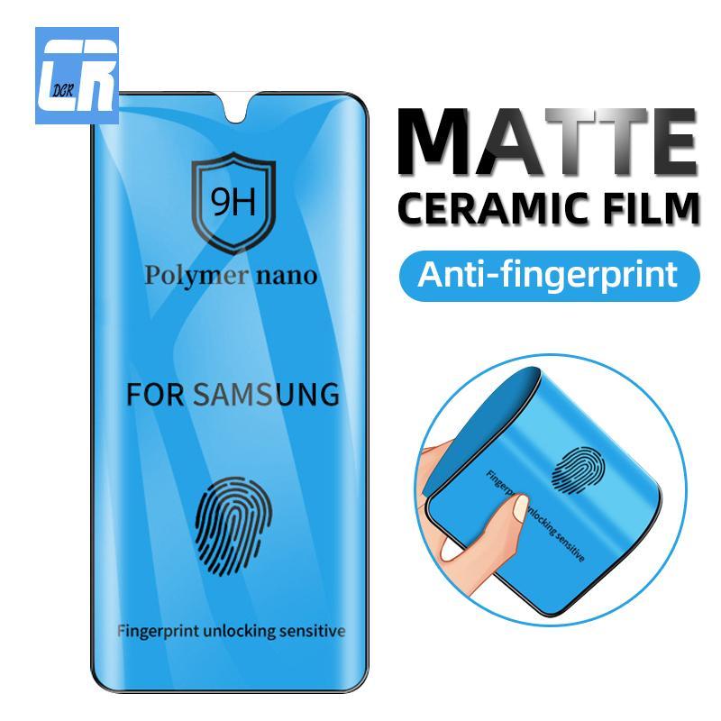 Замороженное керамическое закаленное стекло для Samsung Galaxy S20 S20 S10E S9 S8 Plus Protection на экране на Galaxy Note 20 Ultra 10 мягкая пленка
