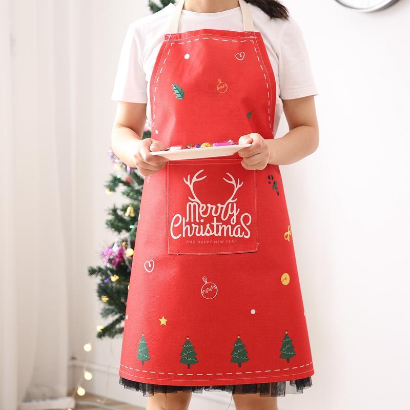 Cucina di Natale Grembiule Bbq Bib Grembiule per Le Donne Cooking Cooking Ristorante Casa Strumenti per la pulizia della casa Bambini Grembiuli adulti 68 * 74 cm