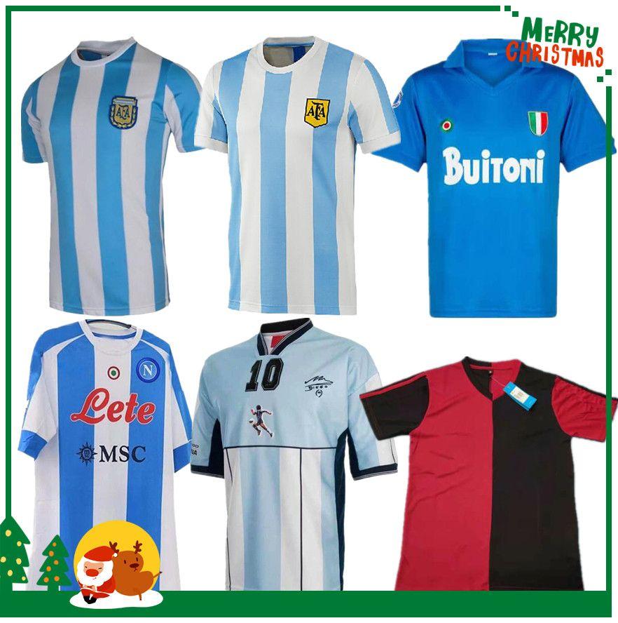 1978 1986 Argentina Maradona home Soccer jersey Retro 93 94 NEWELLS OLD BOYS 1981 Boca Juniors 87 88 Naples Napoli Football Shirt