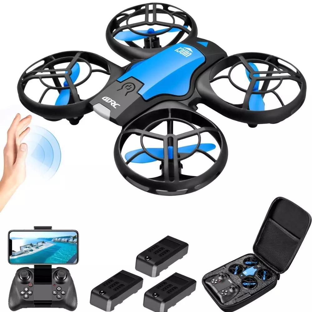 V8 Mini Drone 4k 1080p Cámara HD WiFi FPV Presión de aire Altitude Hold Black Quadcopter RC Drone Juguete
