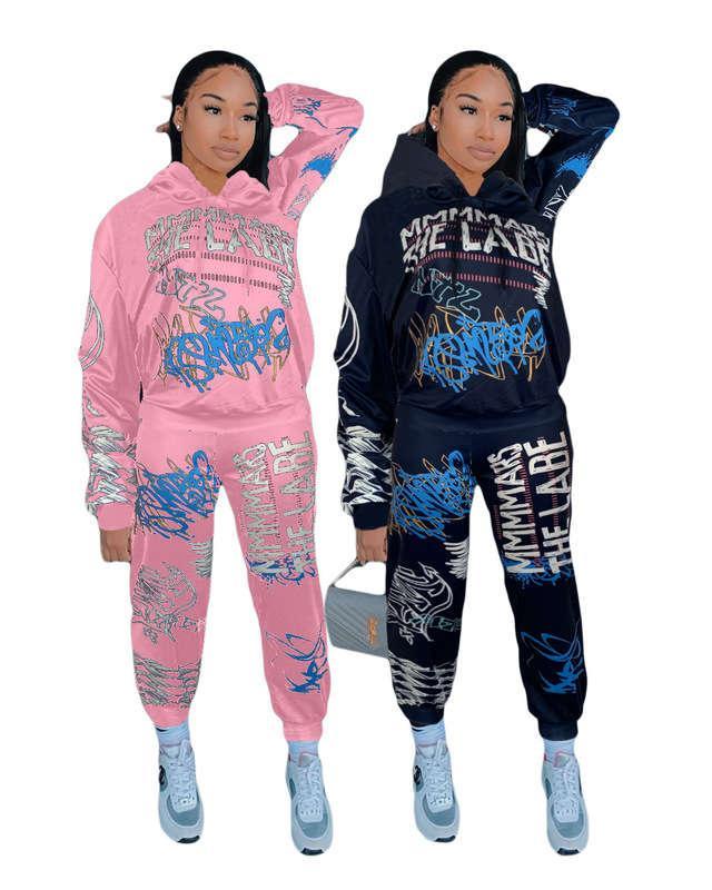 Autumn / Winter 2020 Fashion Printing Trend Street Street Sweater Set de dos piezas
