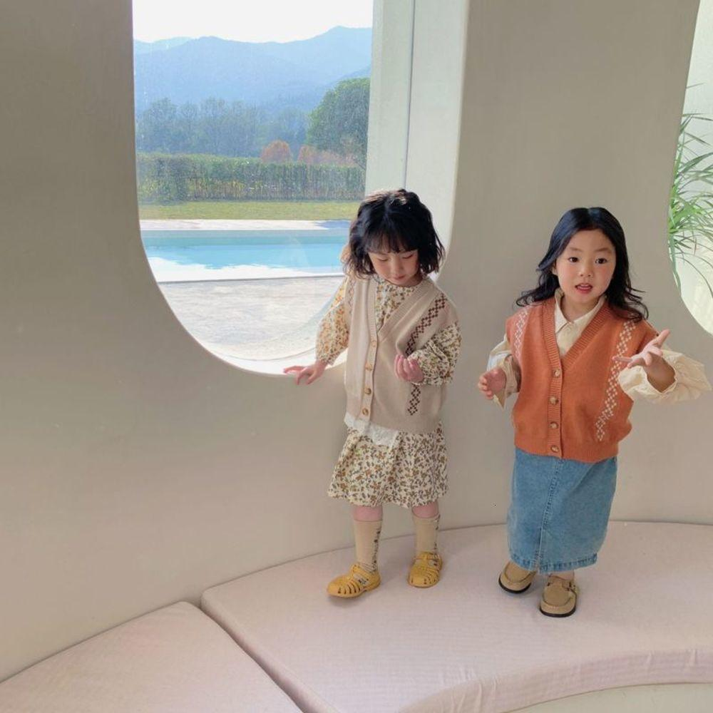 sweater vt Girls' spring drs 2021 new foreign sle Korean Huzhou Zhili children's wear