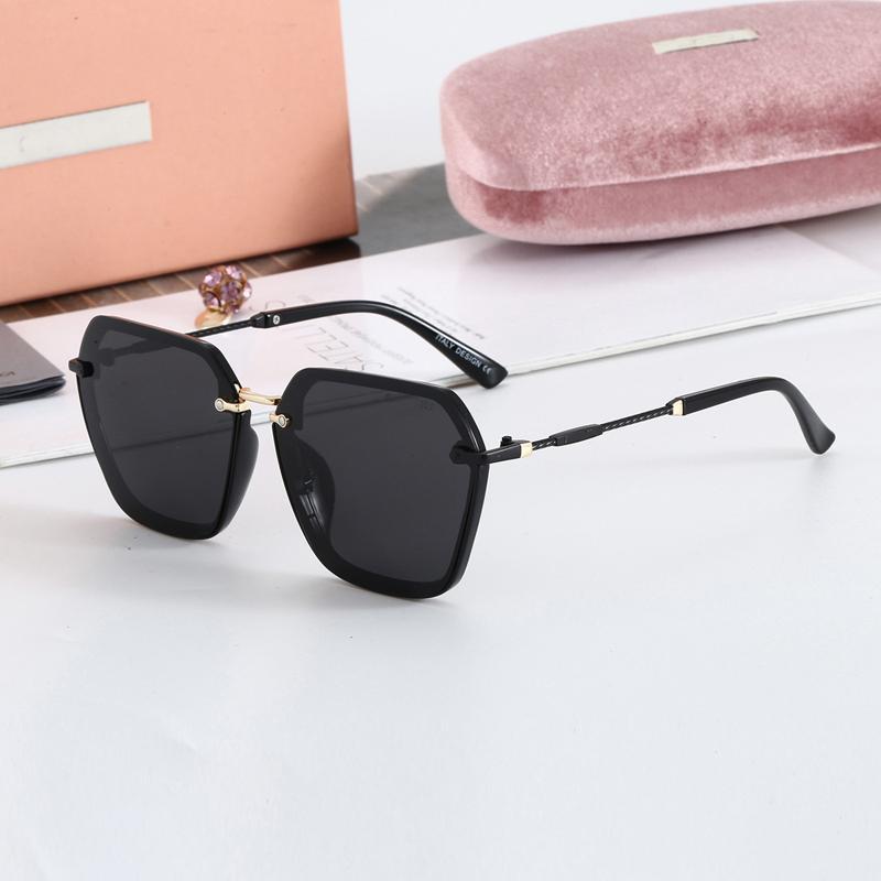 Marca óculos de sol mulheres designer de moda luxo sol vidro senhora polarizer shopping espelho retro quadrado sem moldura óculos j1211