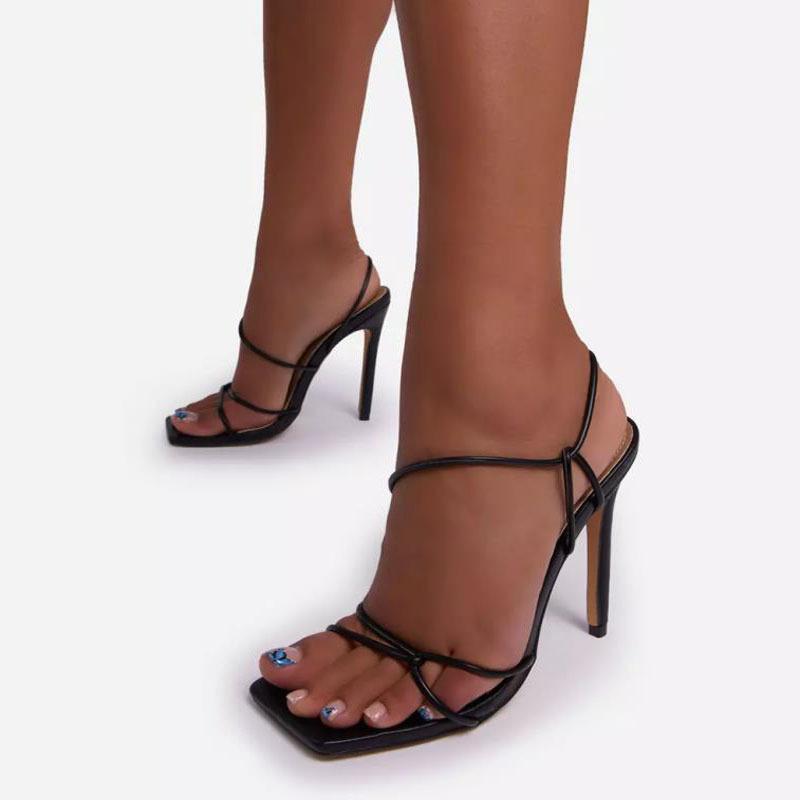 Ddyzhy bomba dedo del pie de la bomba de punta abierta Sandalias de las señoras zapatillas de moda delgada cinturón tacones altos mujeres bomba zapatos sexy causal mujer fiesta zapatos 42