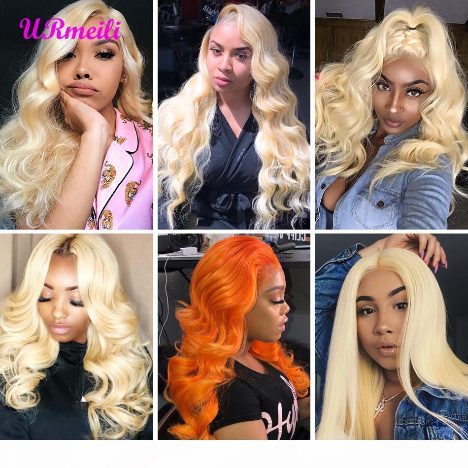 Body Wave 613 Blonde Bundles con frontale brasiliano remy capelli vergini 3 pacchi con chiusure capelli umani tessere corpo onda body wave 30 pollici Bundles