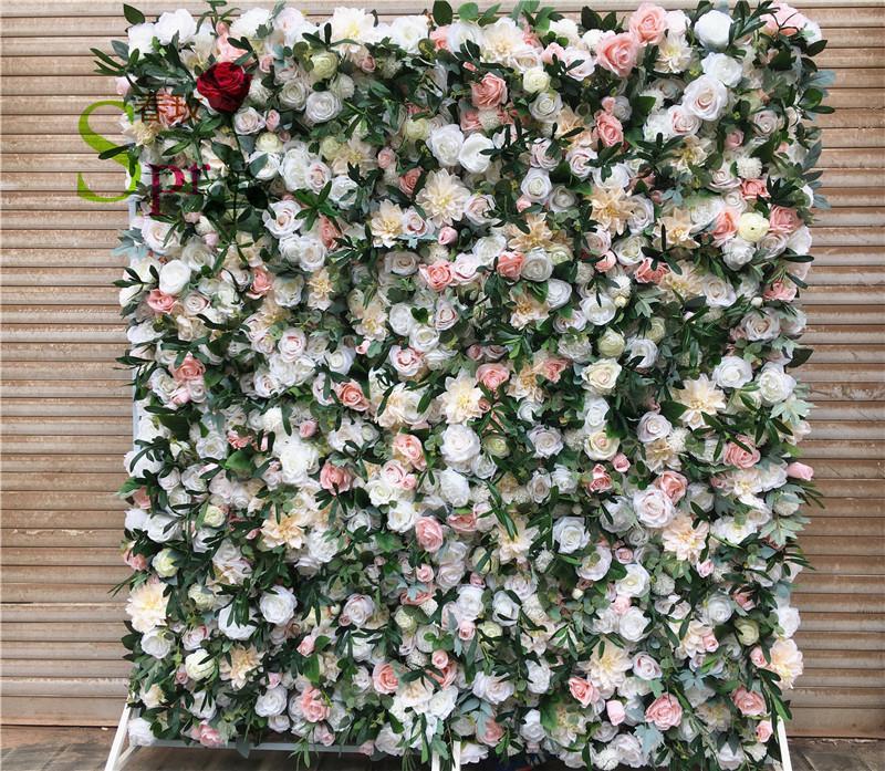 SPR عالية الجودة زينة الزفاف الحرير الزفاف الزهور زهرة الجدار الخلفيات للديكور