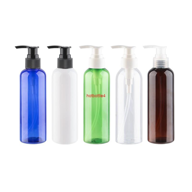 200 ml Pet Losyon Krem Şampuan Duş Jel Pompa Şişesi 200cc Plastik Kozmetik Seyahat Ambalaj DIY Konteyner 30 adet / lotgood kalite