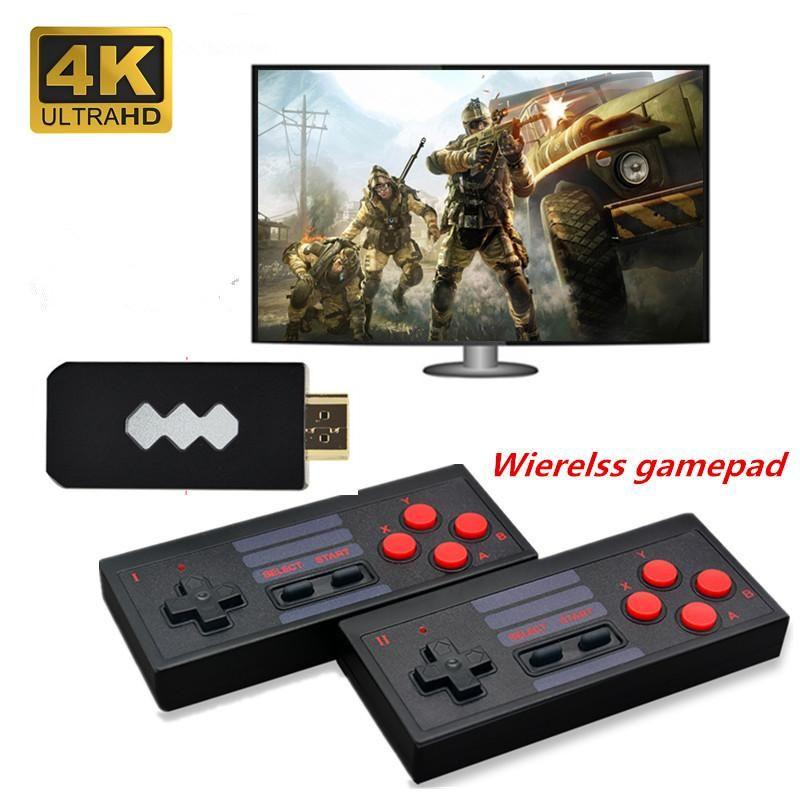 4K, построенный в 620/818 Поддержка двойного беспроводного контроллера AV / вывод портативного игрока игры