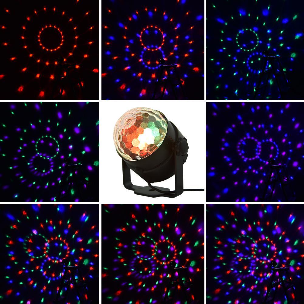 15 цветных светодиодных кристалл маленький волшебный шар света мини-сценический свет, может быть использован для свадьбы, вечеринки по случаю дня рождения, рождественские, бары, караоке, бары