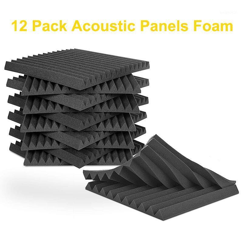"""Novos 12pcs ACOUSTIC SOAM painel telhas de parede de parede studio 12 """"x12"""" x1 """"à prova de som preto / azul para estúdio Casa Recital Hall Cinema1"""