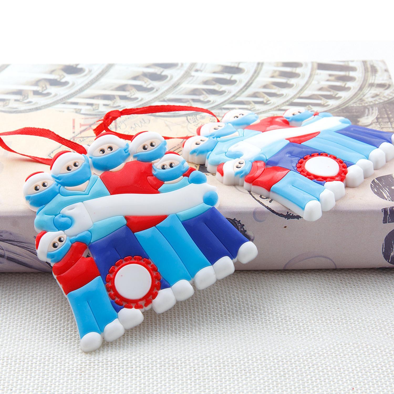 Emodfamily Christmas 3 Kişiselleştirilmiş Süsler 4 Survivor 5 6 Yüz Maskeleri ile El Sanitized DIY Dekorasyon Yaratıcı T