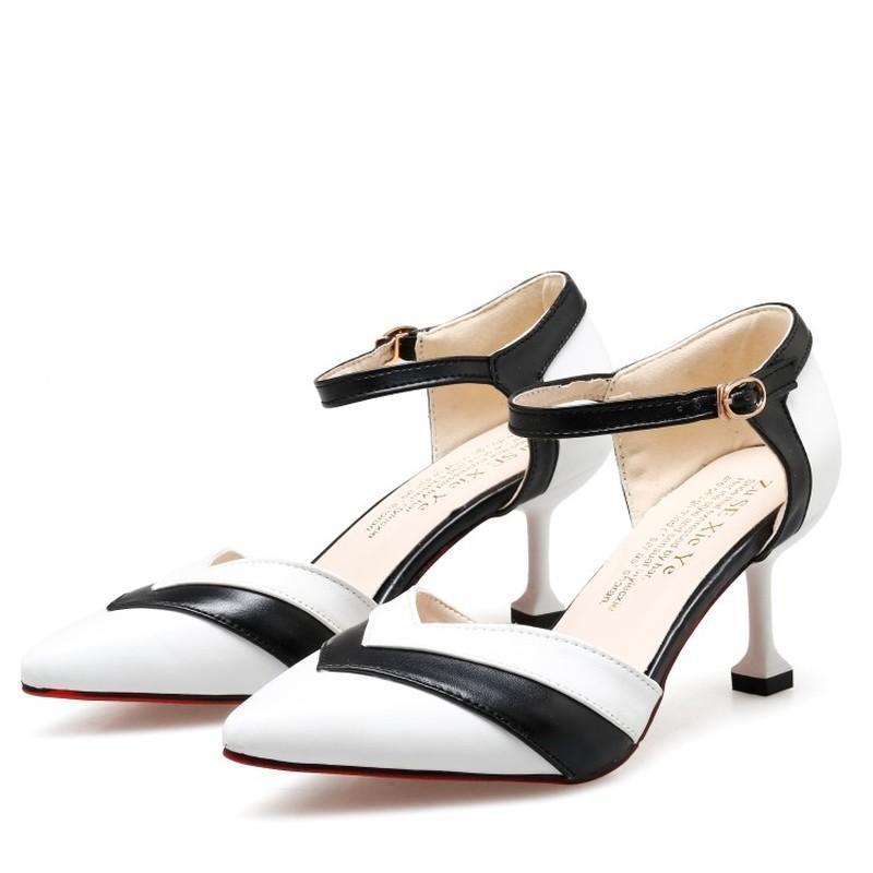 Zapatos de vestir mujer bombas de hechizo de moda color tacones altos tacones individuales hembra primavera verano cuero genuino boda sandalias y22-16