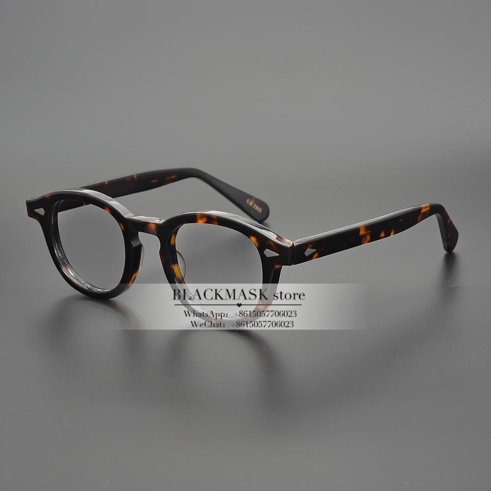 Jackjad Top Calidad Acetato Marco Johnny Depp LemtoSh Estilo Eyewear Marco Vintage Redondo Marca de diseño EyeGlasses Gafas ópticas Marco