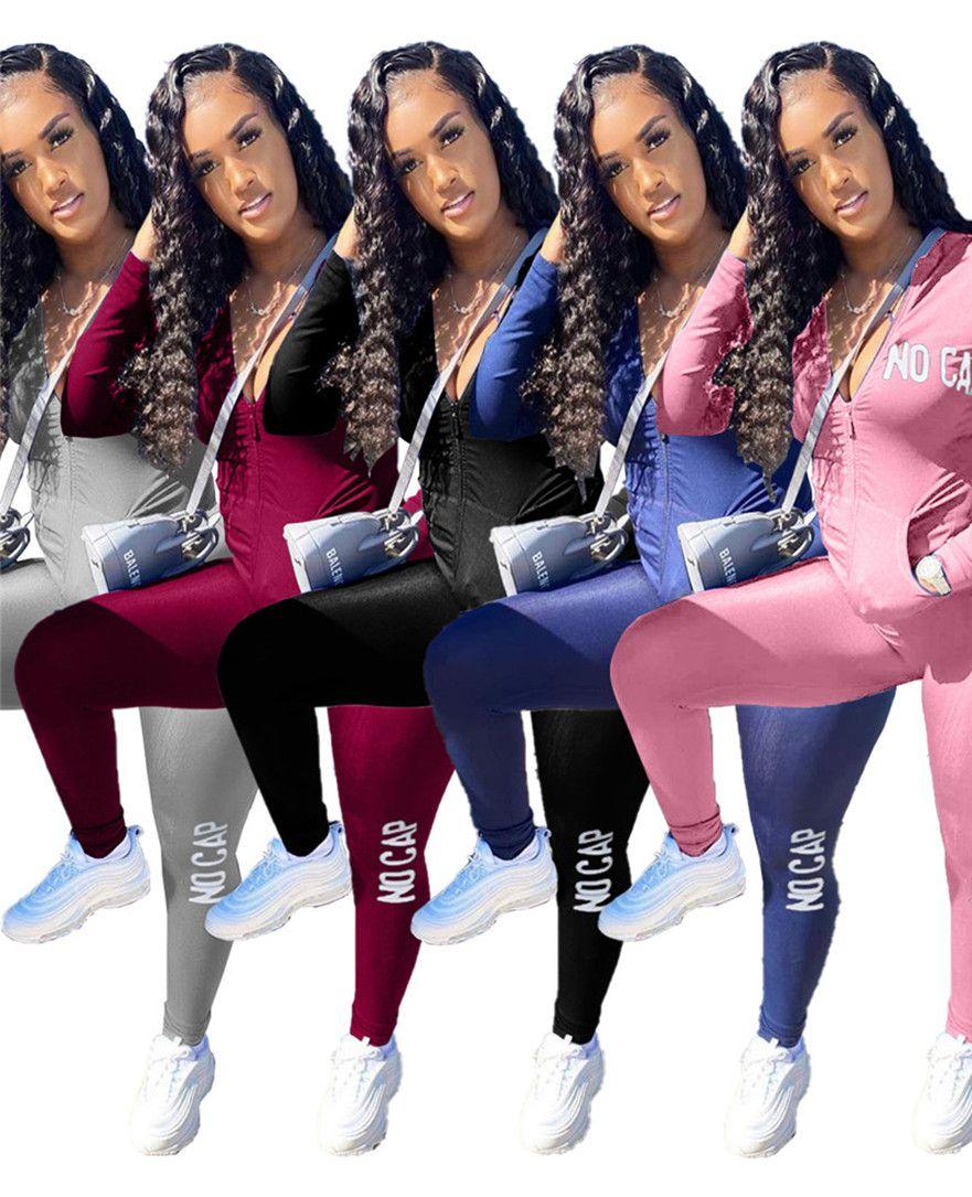 Designer Designer Giacca Abiti 2 pezzi Set Sportswear Casual Sportswear Manica lunga Caduta Inverno Jogger Suit Solid Color sweatsuit 3903