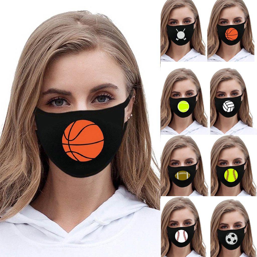 Máscara de bola de voleibol de béisbol Deporte Mascarillas faciales protectoras al aire libre Bola Impreso Niños adultos Máscaras de la extremidad de la extremidad CYF4589