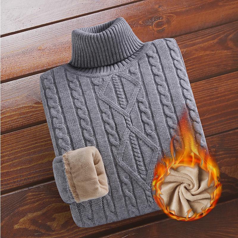 Maglione addensato in velluto inverno torta dolcevita Base Spessa camicia a maglia calda da uomo caldo vestiti interni