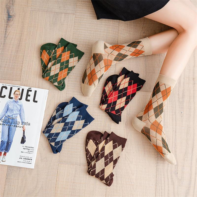 Otoño Nuevos calcetines de moda algodón algodón estilo preppy estilo feliz calcetines casuales calcetines de alta calidad envío rápido