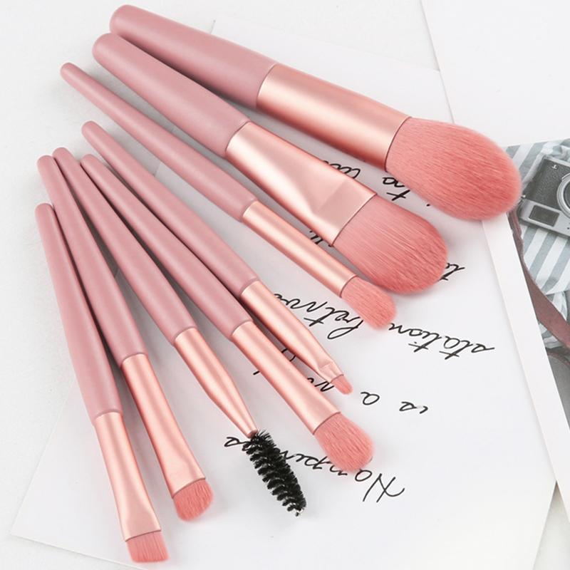 Maquillage Brosses 8pcs Pinceau Cosmétique Set Cleaner Eye Ombre Eye Ombre Fondation Fondation Fondation En mélange Outils de beauté