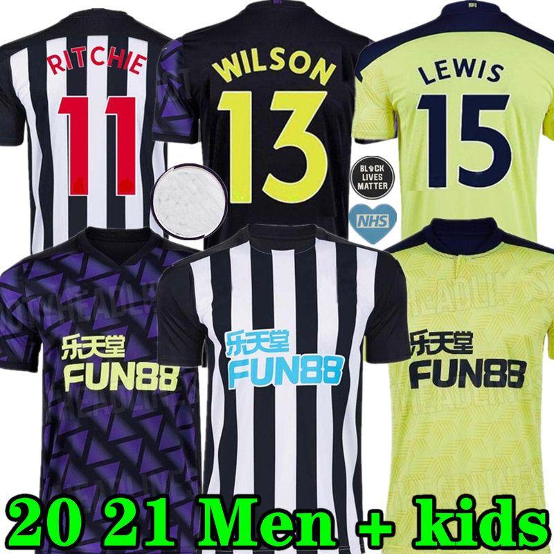 20 21 Ritchie Jerseys de futebol Home Away Terceiro Newcast Joelinto 2020 2021 Home Lascelles Shelvey Football Yedlin Shirts Homens Kids Kit