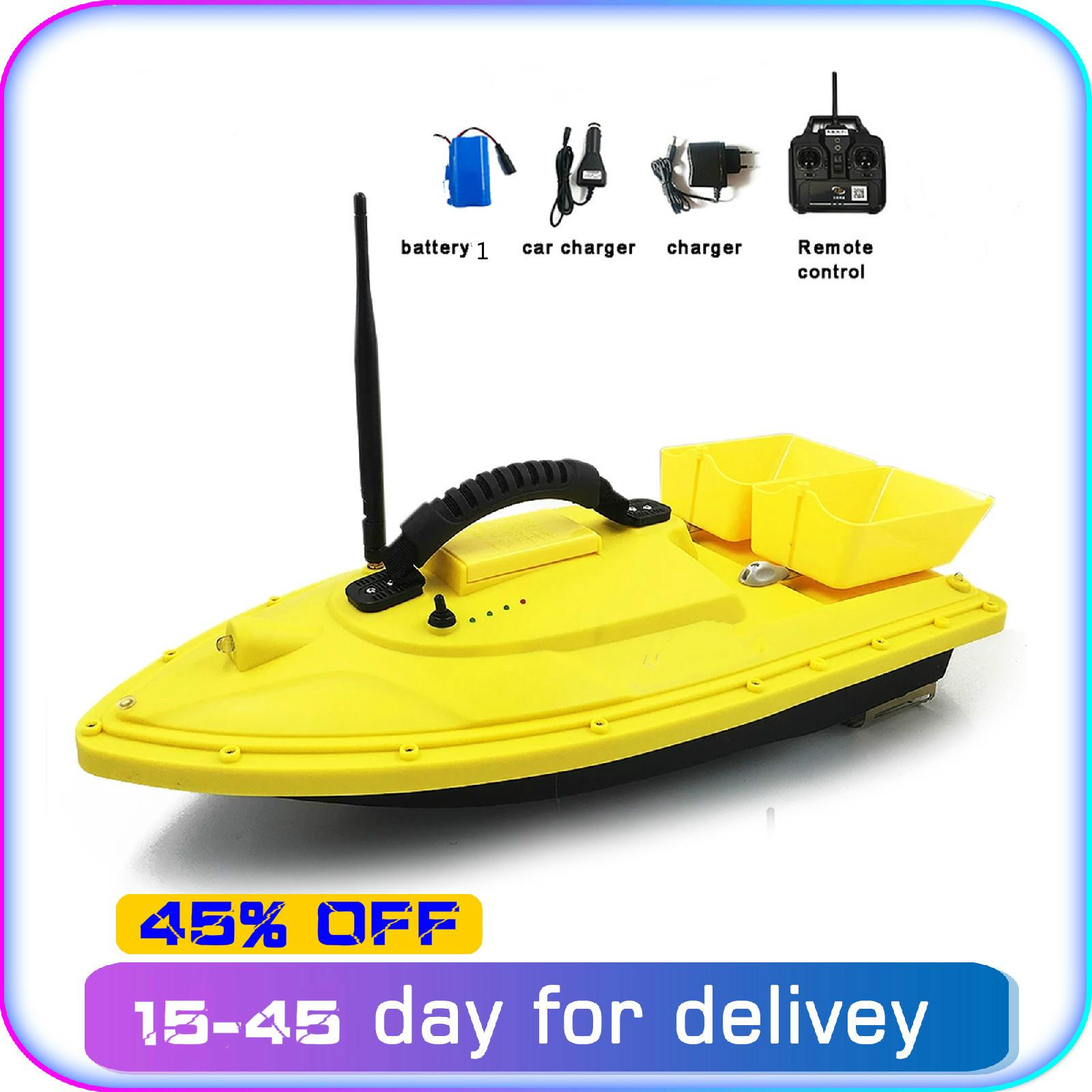 Fishing tools T188 Night Light RC Distance Auto Lure Fishing Smart Remote Control Bait Boat Toy Fish Finder Wireless 1.5KG 500M