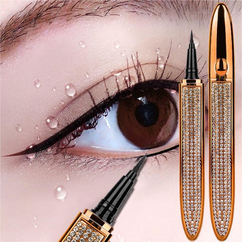 Magia auto-adesiva líquido delineador lápis cola-livre de lápis para cílios caneta de revestimento de olho impermeável