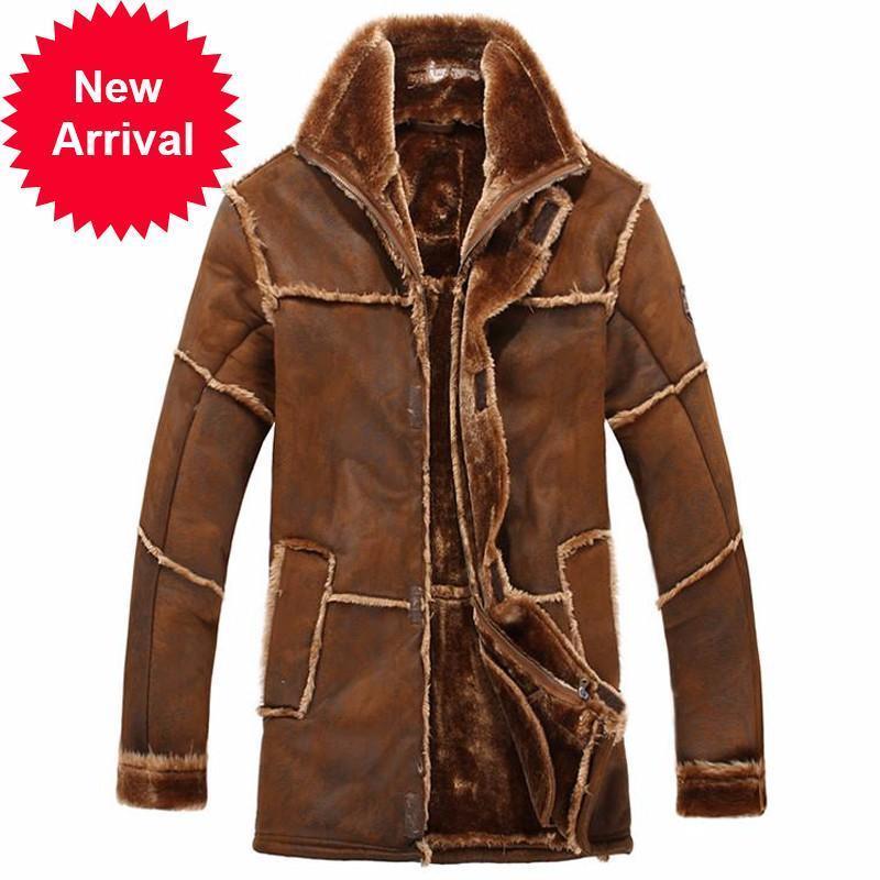 Recién llegados de lujo de invierno de invierno chaquetas de hombre y ropa de abrigo de ropa exterior abrigos de piel abrigos
