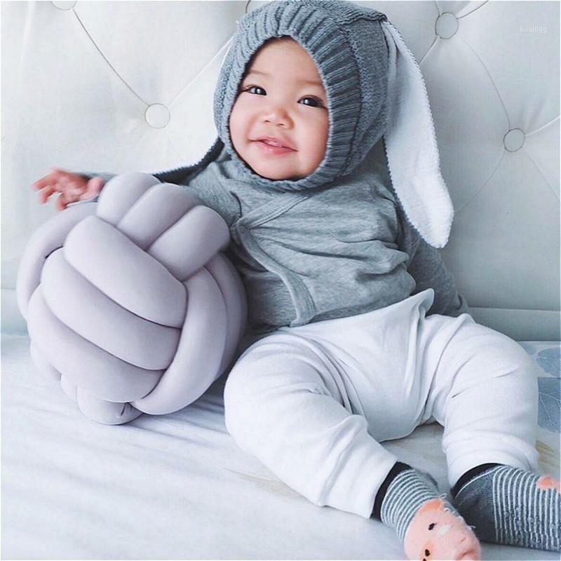 Dinamarca Ins Explosão Nordic Knot Almofada 100% Algodão Nó Bola de Bola Bebê Dormir Bonecas Brinquedo De Pelúcia Para Crianças Sofá Cushion1