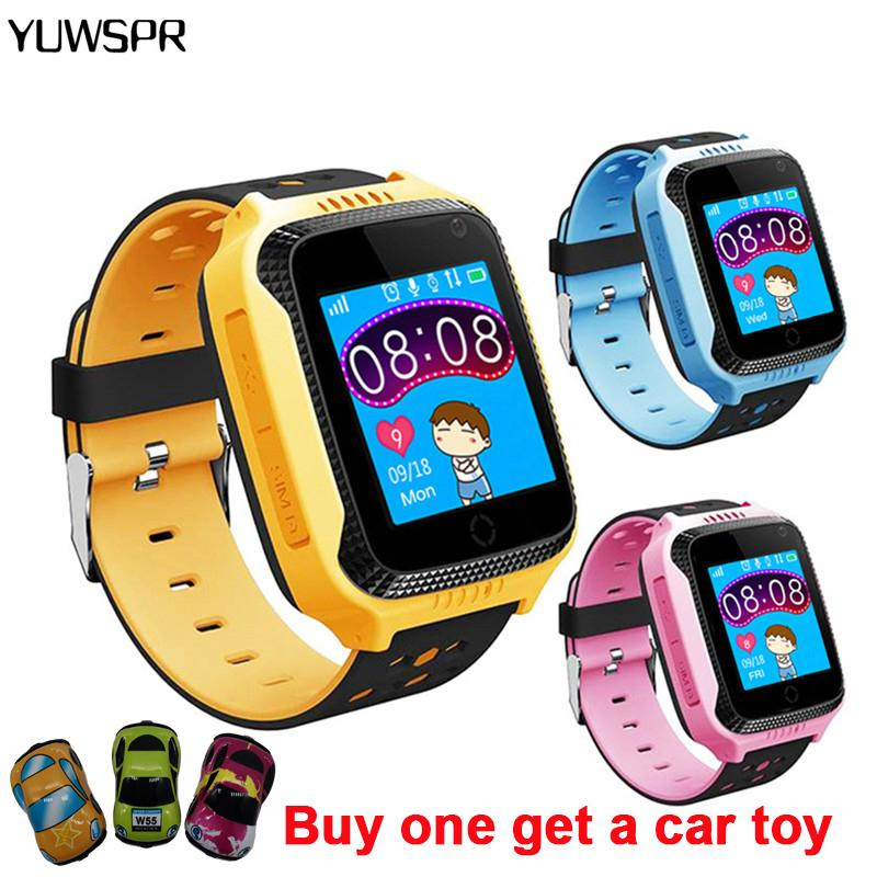 Детские часы Smart GPS Tracker SOS Call Расположение Фонарика камеры Удаленное прослушивание с подарками Q528 Y21 Детские умные часы LJ201202