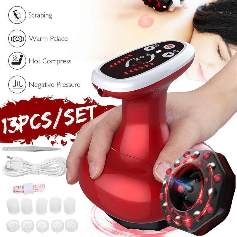 Electric Craping Cupping Body Massager Guasha Scropping Насос Всасывающая Массаж Корпус Банки с толстым Горелка для похудения Терапия Машина1