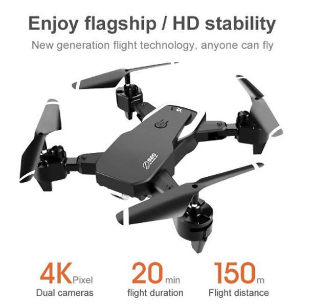 بدون طيار لعبة كاميرا مزدوجة كاميرا واسعة زاوية واسعة كاميرا wifi fpv طوي الارتفاع الحفاظ quadcopter مع 4K كاميرا جديدة وصول طويل المدى الطائر