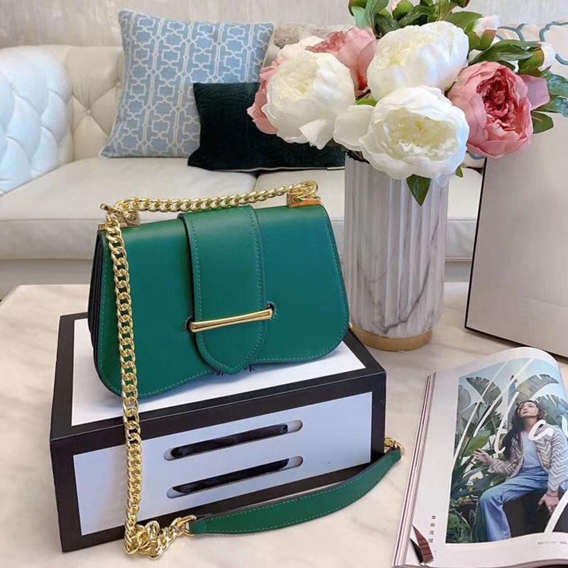 Bolso de caja de estilo personalizado de hombro Bolso inclinado de cuero de alta cadena Span Linda de una sola calidad Simple Flip Bolsos de hombro OFXBE