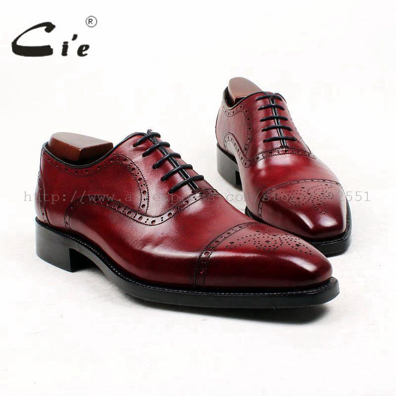 Zapato Plaza cie del dedo del pie de encargo a medida hombres hechos a mano cosido GOODYEAR plena flor hombres del cuero de zapatos Oxford pátina profunda vino OX428