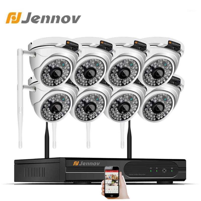 JENNOV 2MP 1080P NVR WIFI المراقبة الفيديو اللاسلكية CCTV كاميرا 8ch في الهواء الطلق للماء IP 66 HD الأمن المنزلية الكاميرا اللاسلكية 1