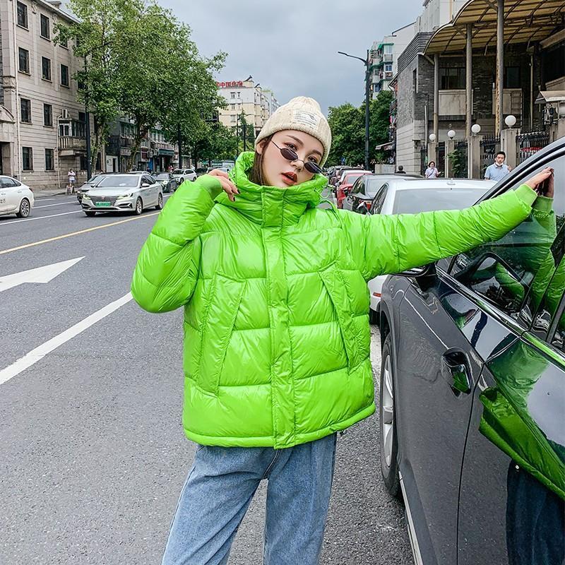 Kadın Aşağı Parkas Fitaylor 2021 Kış Kadın Kısa Kapüşonlu Ceket Sıcak Ceket Gevşek Tasarım Sokak Dış Giyim Pamuk Parka