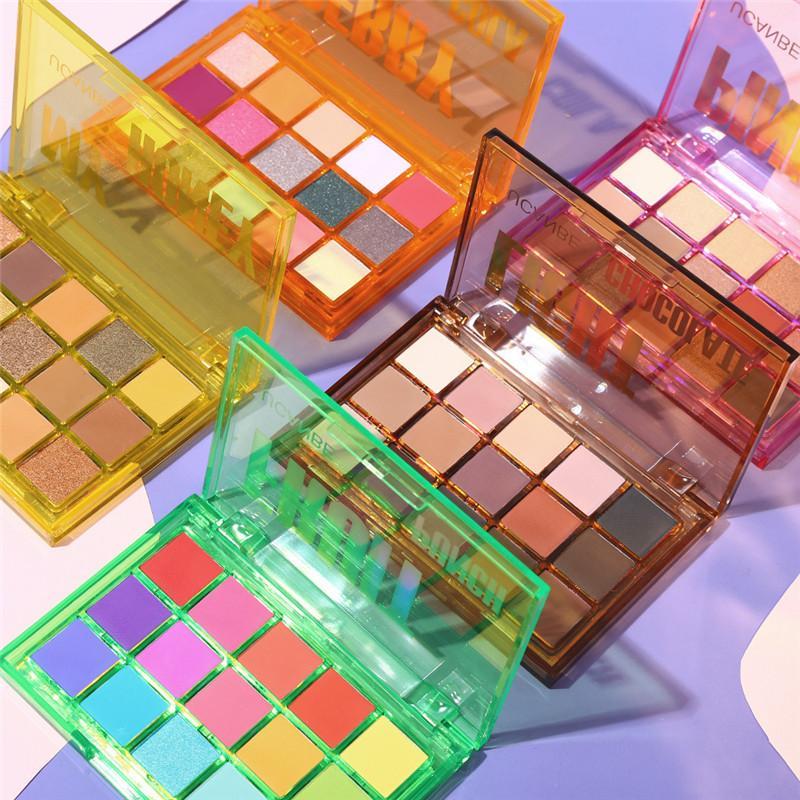 15 couleurs palette d'ombre à paupières brillants brillants mattes maquillage néon hautement pigmenté métallique nude nue ombre punch