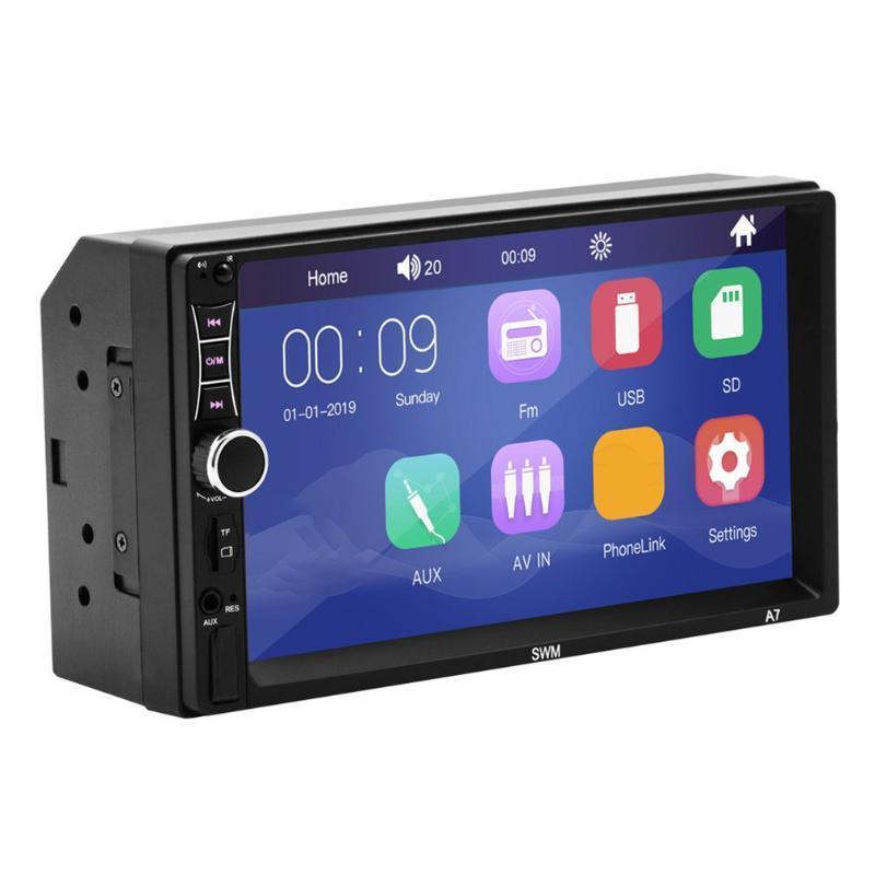 2 Din Carro Multimedia Jogador GPS Navegação com Mapa 7 Polegada HD Tela de Toque Sem Fio Rádio MP3 MP5 Rádios