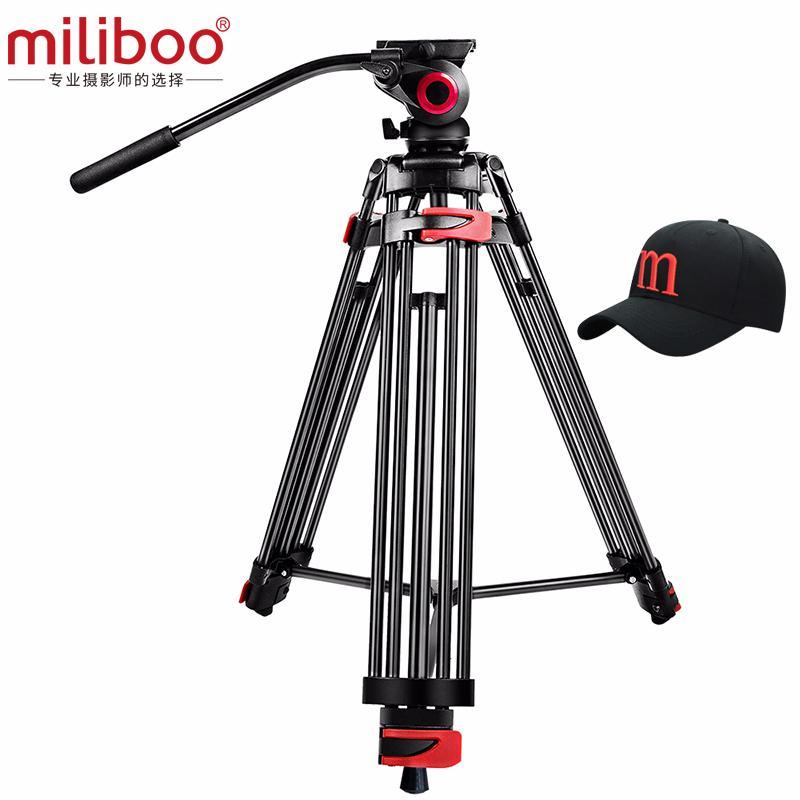 """miliboo MTT602A Профессиональный портативный алюминиевый Fluid Головка камеры штатив для видеокамеры / DSLR Стенд Видео штатив 76 """"Максимальная высота Y1117"""