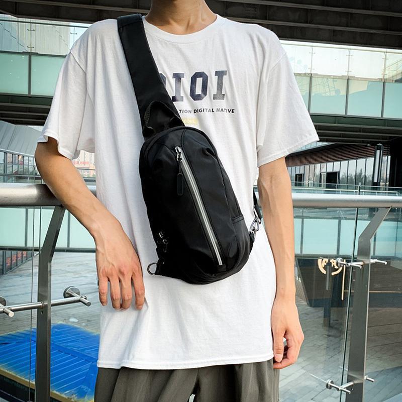 Waterproof Knapsack Men Chest Reflective Strip Sports Waist Bags Unisex Travel Messenger Bag Fashion Male Backpack Q1221