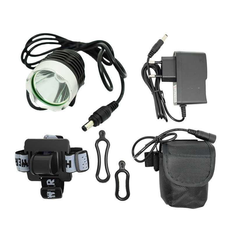 Waterproof XM-L T6 LED Bicycle Light Front Lamp 1800lm Bike Headlight Cycling + 8.4V 18650 Battery Pack + Charger