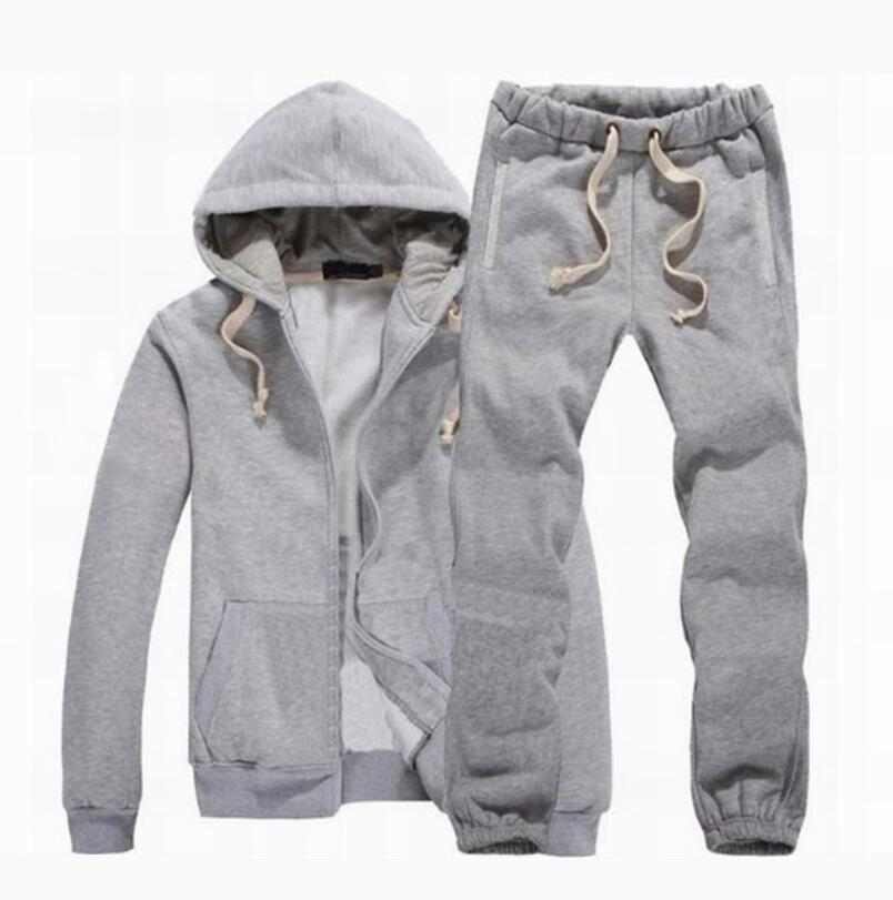 New Men Tracksuit Winter Hood Jacket + Calças Supershirts 2 Piece Set Hoodies Sporting Terno Esportes Casaco Sportswear