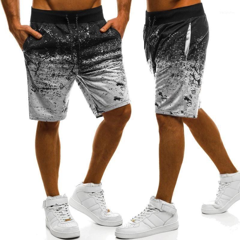 Pantaloncini da uomo Casual Camouflage Pantaloni sportivi Pantaloni da splash-inchiostro Stampa dimagrante Pantaloni da jogging fitness per uomo1