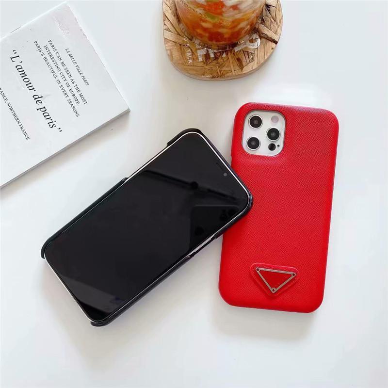 Lüks Tasarımcı Telefon Kılıfları Için iPhone 12 11 Pro Max XR XS 7/8 SE2 PU Deri Moda Kapak Galaxy S20 S10 için Not 20 10 Kılıf
