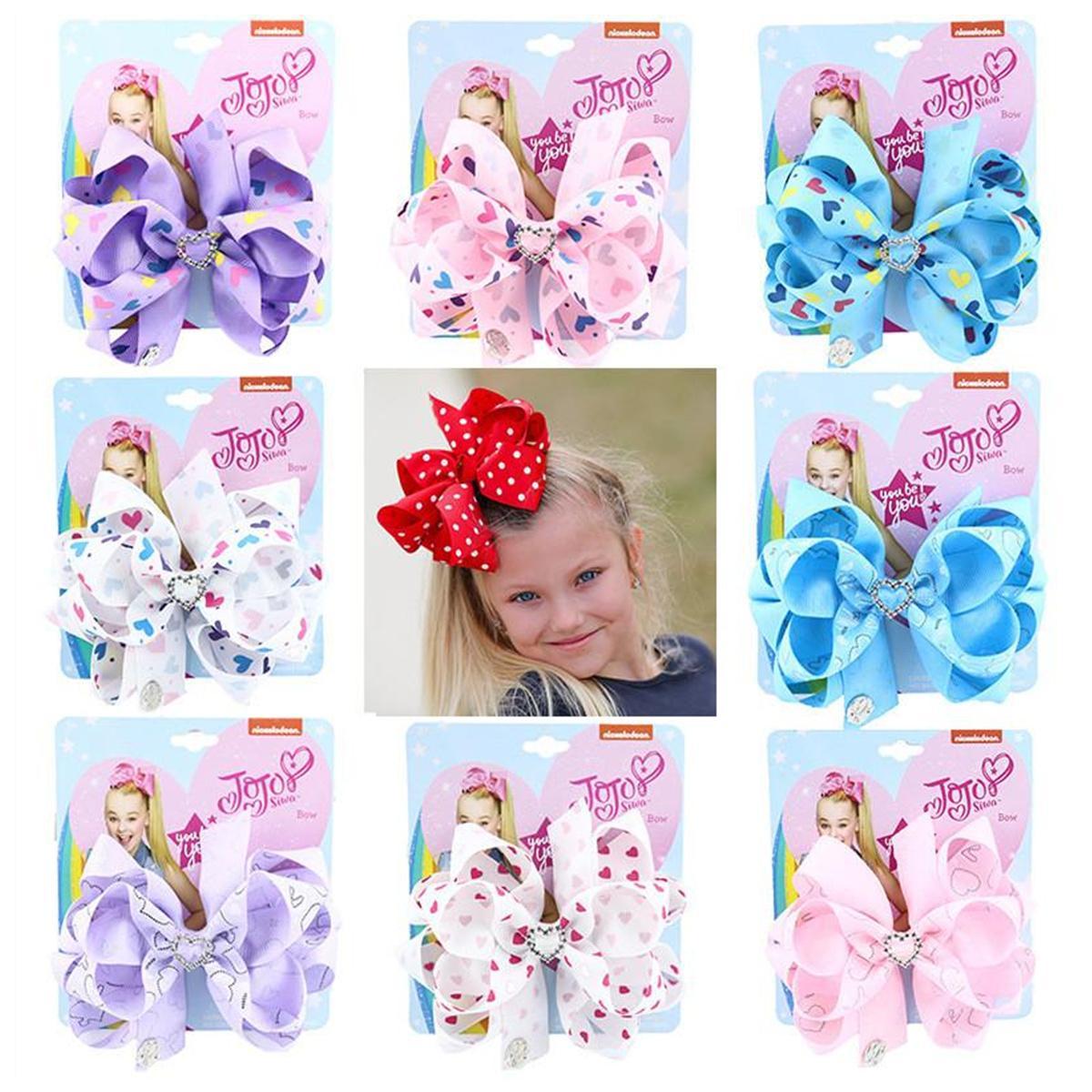 Мода Baby Siwa Луки Печать Праздники Кенсы Hair Love Сердце Закрытые Зажимы для волос Для Девочек Мода Головные Услуги Детские Аксессуары для волос Подарки