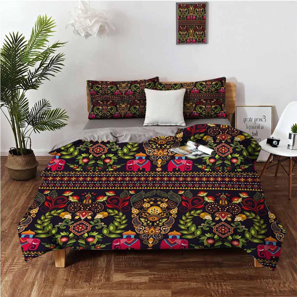 Modello tradizionale colorato Paisley Border Dettagli floreali S tribali Set di 3 pezzi