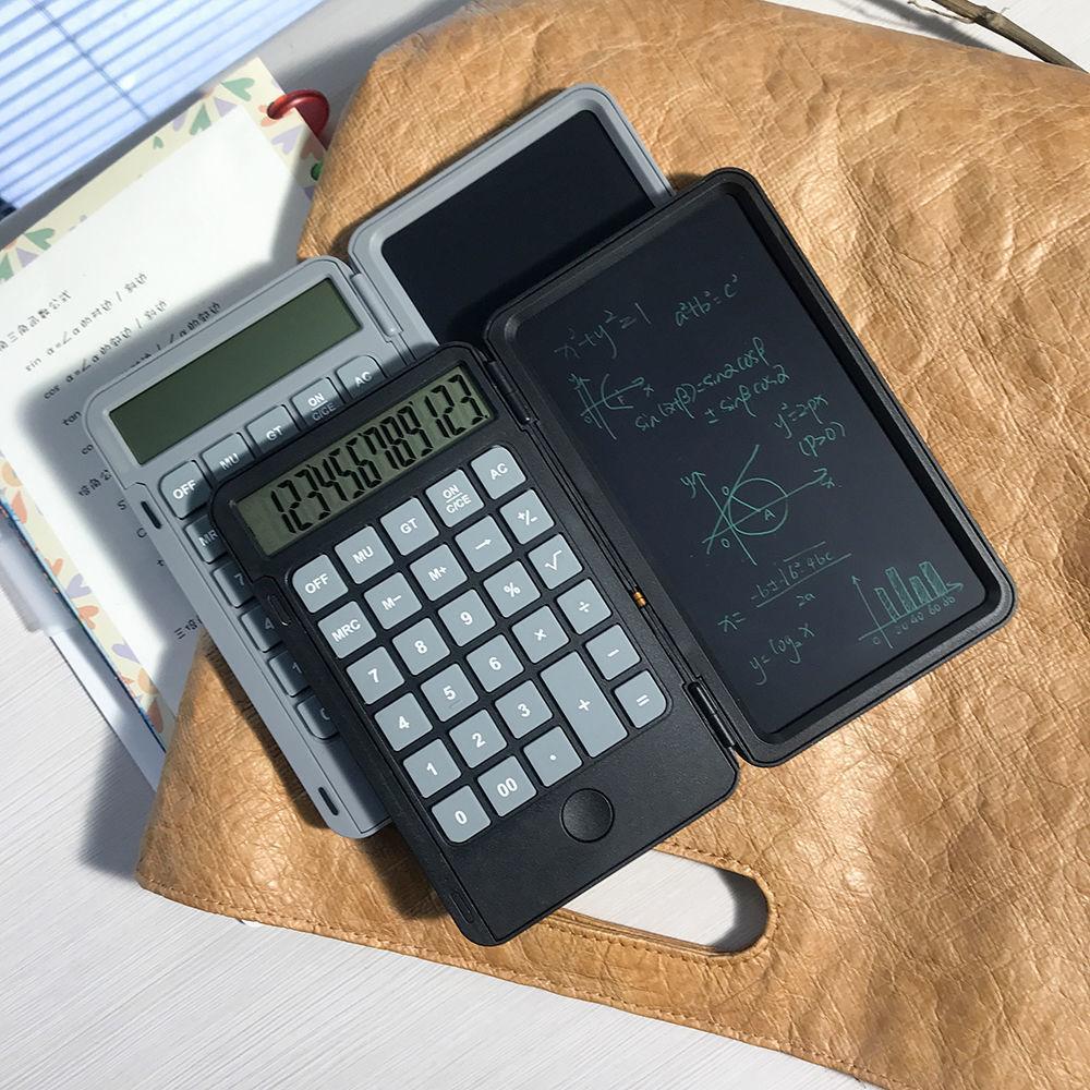 DHL Libre recargable de escritura de escritura Calculadora Portátil Multifunción LCD Estudiante Handwriting Board Silent Draft Office Usar Regalo