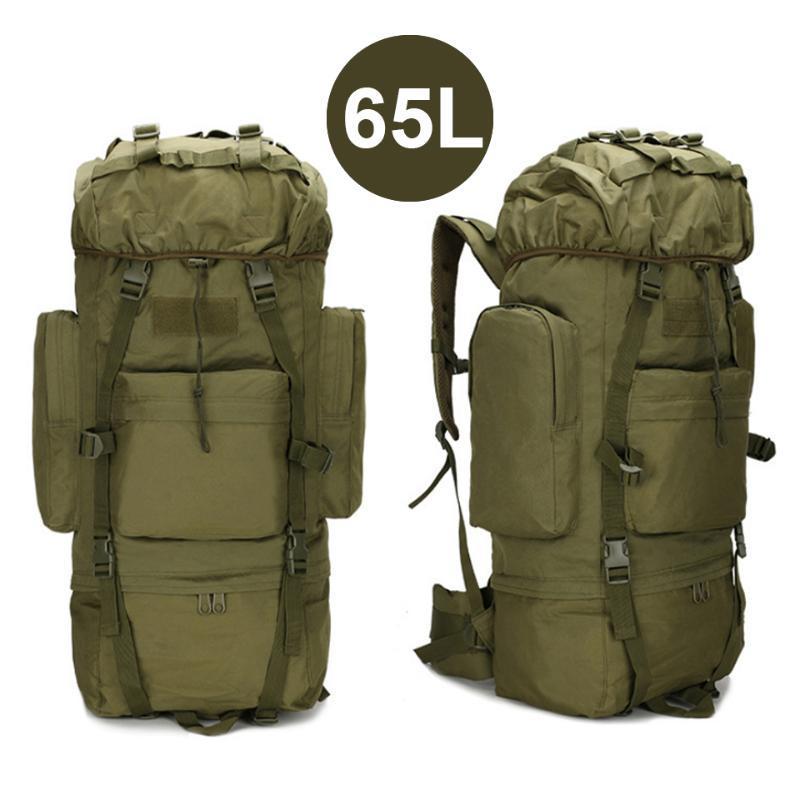 65l / 6L Große Kapazität Armee Taktische Rucksack Rucksack Männer Große Reise Wasserdichte Trekking Camping im Freien