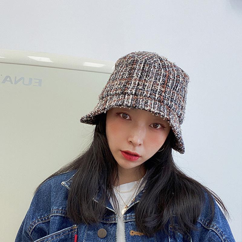 Yaz sonbahar küçük kokulu rüzgar küçük kulak şapka kadın balıkçı şapka marka versiyonu yaz güneşlik kadın marka öğrenci klwe