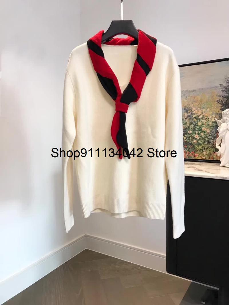 2020 New Ladies Fashion Manica lunga Sexy Casual Tie Tie Maglione 1019