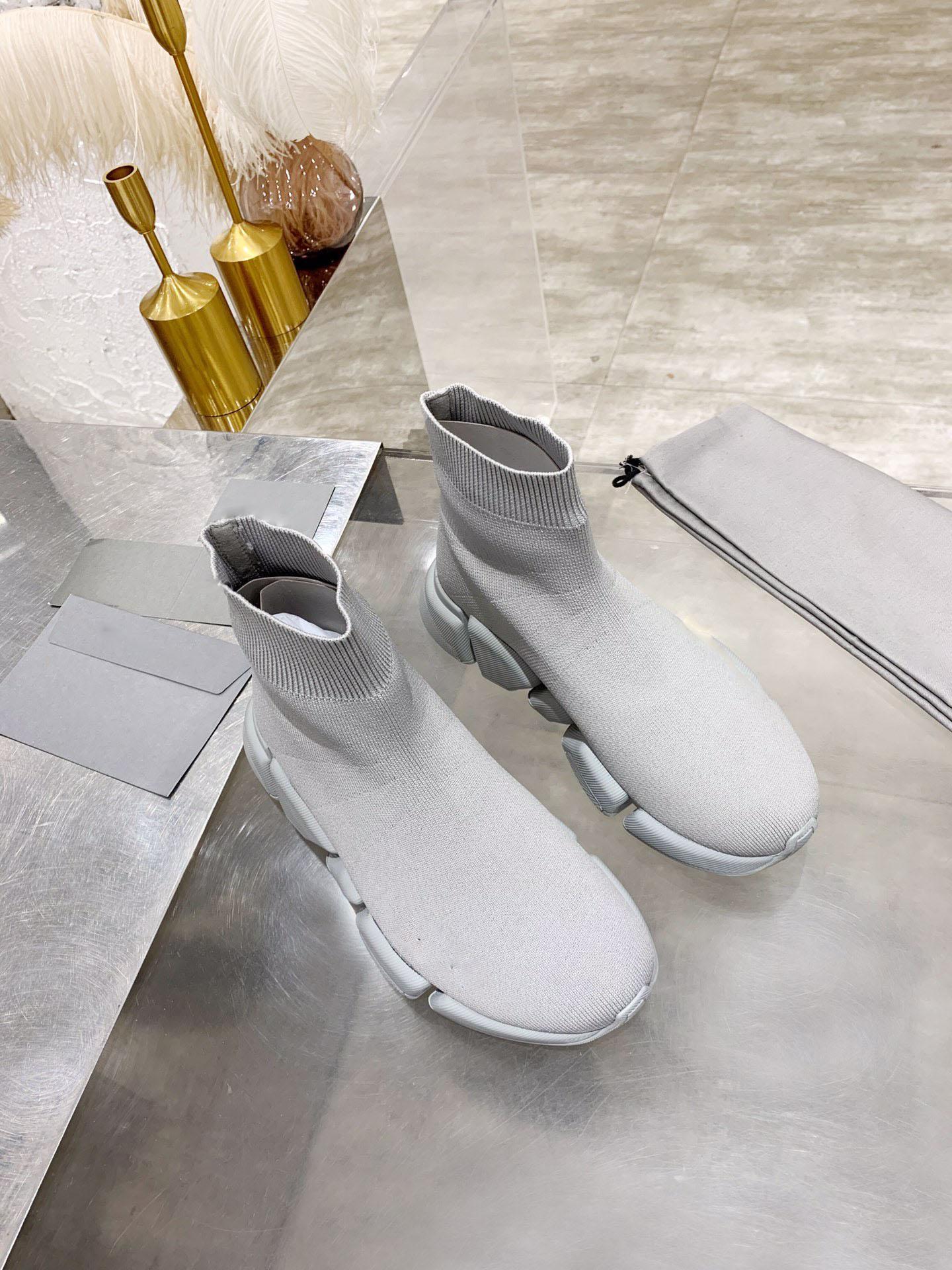 2021 Casual flats for women sock shoes men women sneakers high top mens fashion trainer casual tennis shoe
